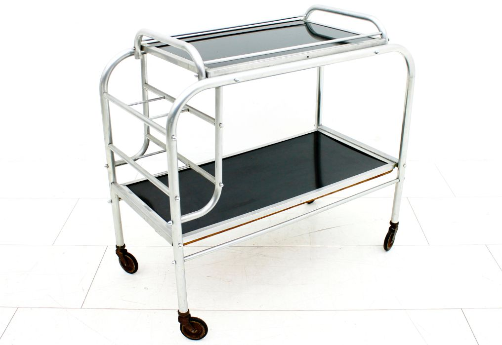 Vintage French Art Deco Bar Cart 1930s For Sale At Pamono