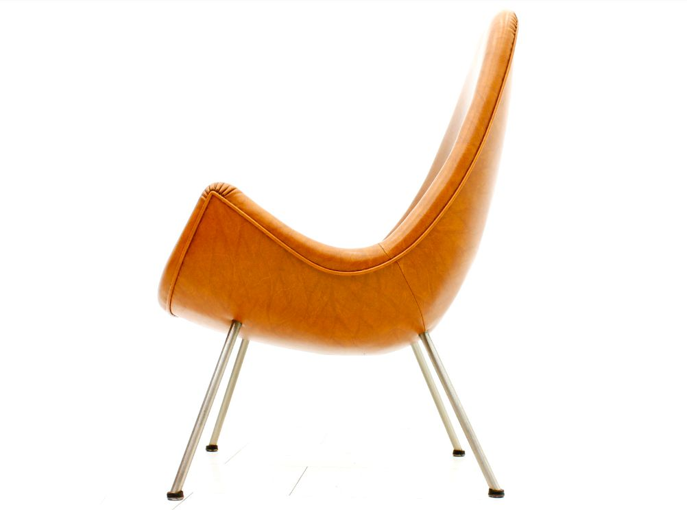 Mid Century Orange Lounge Chair 1950s for sale at Pamono
