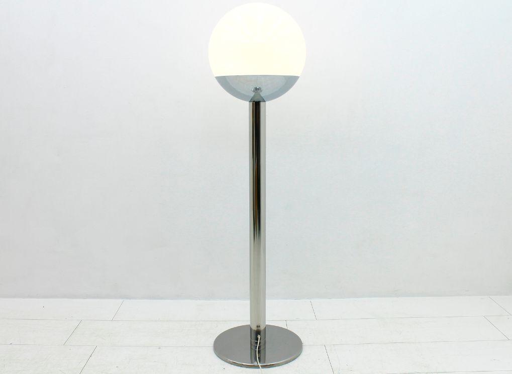 lampadaire en chrome verre par pia guidetti crippa pour lucia 1970s en vente sur pamono. Black Bedroom Furniture Sets. Home Design Ideas