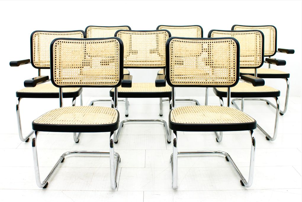 s 67 f lobby chairs by mart stam for thonet set of 8 for sale at pamono. Black Bedroom Furniture Sets. Home Design Ideas