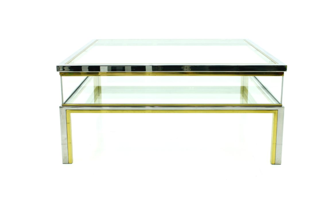 Mid Century Coffee Table From Maison Jansen 1970s For