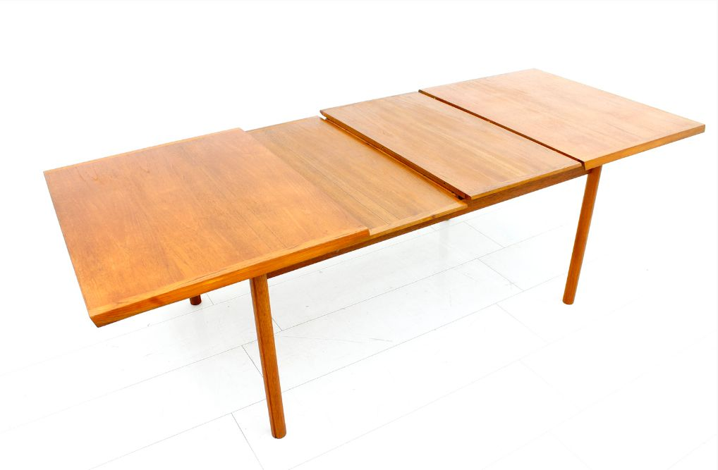 Teak Extension Dining Table from France amp S248n 1960s for  : teak extension dining table by france son 1960s 6 from www.pamono.com size 1018 x 667 png 573kB