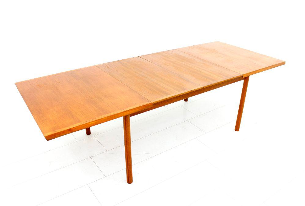 Table de Salle 224 Manger en Teck 224 Rallonge de France amp S248n  : teak extension dining table by france son 1960s 7 from www.pamono.fr size 998 x 676 png 500kB