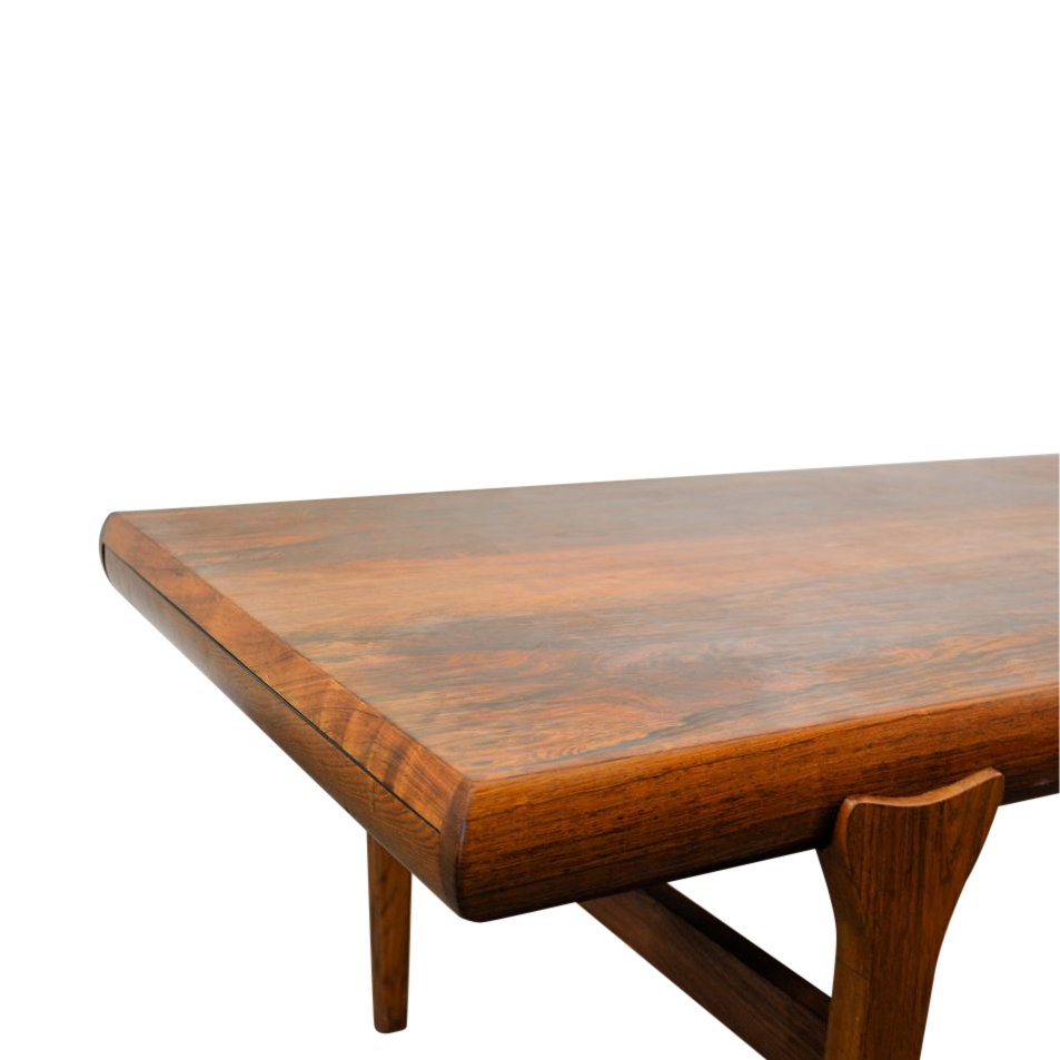 Extendable Rosewood Coffee Table By Johannes Andersen For