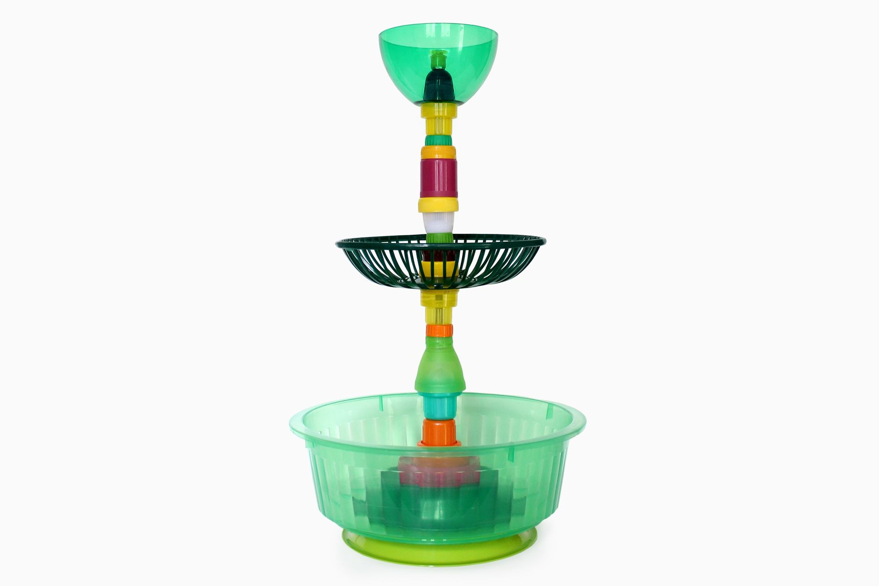 Multiplastica Domestica Large Tiered Fruit Bowl in Green ...