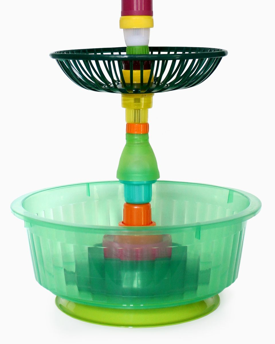 Multiplastica domestica large tiered fruit bowl in green and black by brunno jahara for sale at - Tiered fruit bowl ...