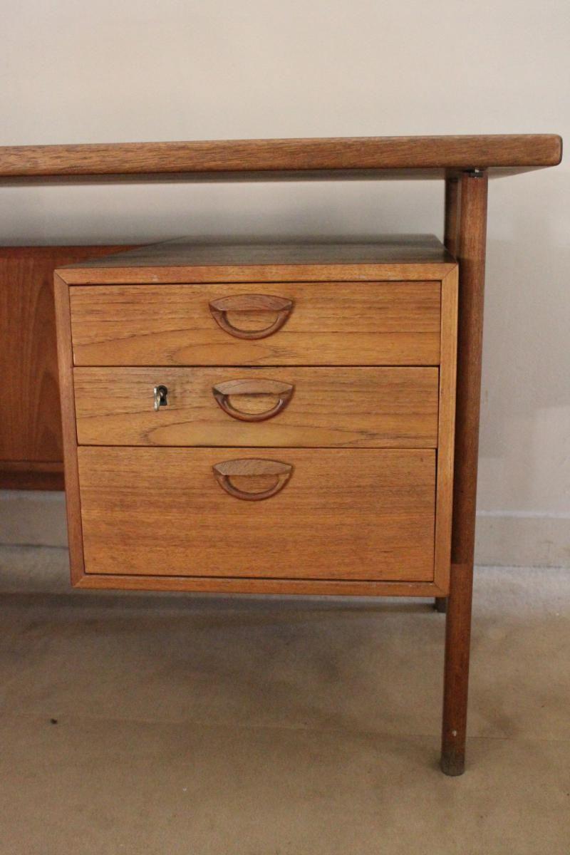 skandinavischer mid century schreibtisch 1950er bei. Black Bedroom Furniture Sets. Home Design Ideas