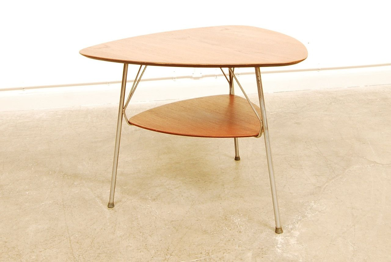 Teak Coffee Table With Metal Base 1960s For Sale At Pamono