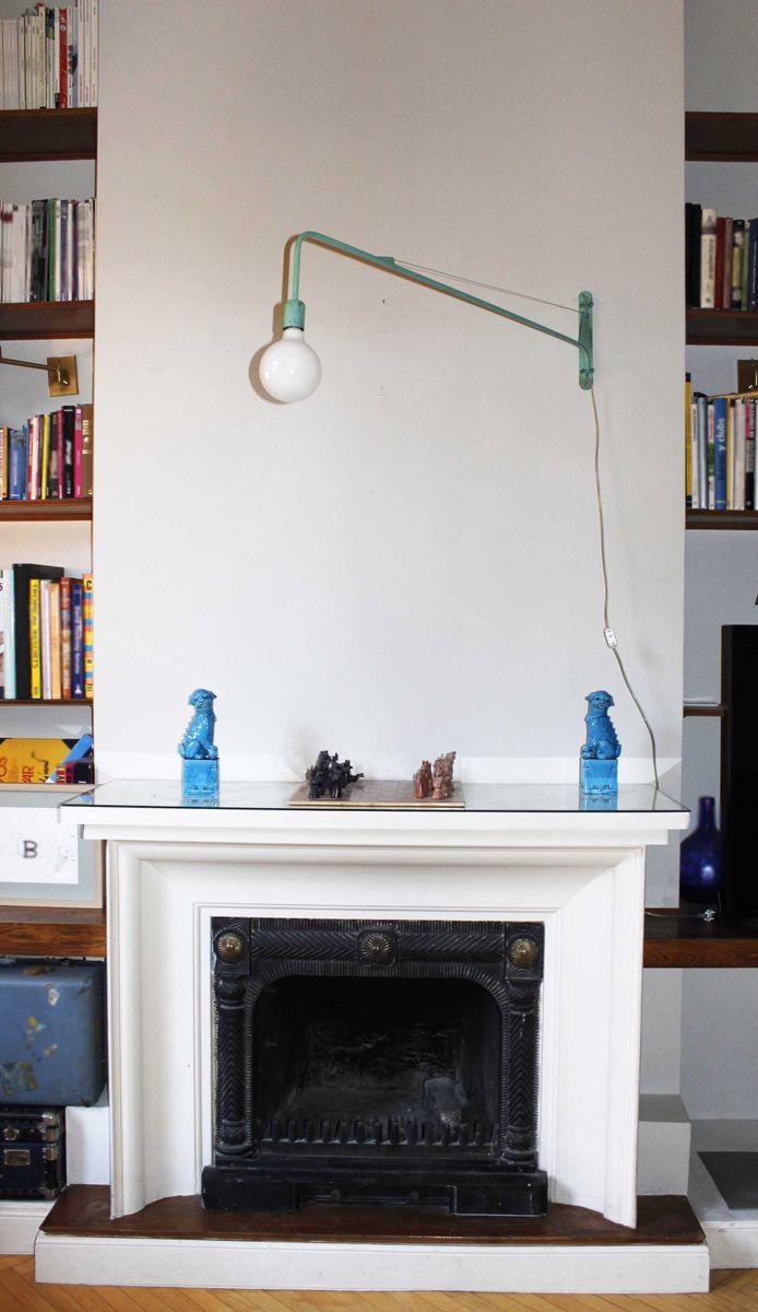 blaue industrie wandlampe von juanma lizana bei pamono kaufen. Black Bedroom Furniture Sets. Home Design Ideas