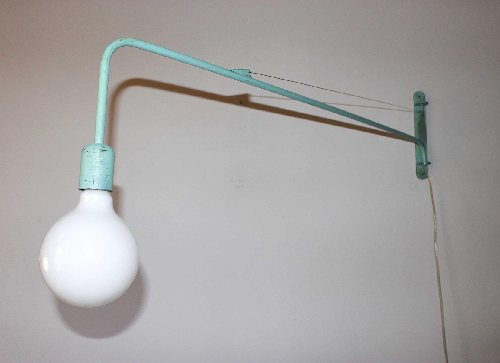 Industrial Aquamarine Wall Light by Juanma Lizana for sale at Pamono