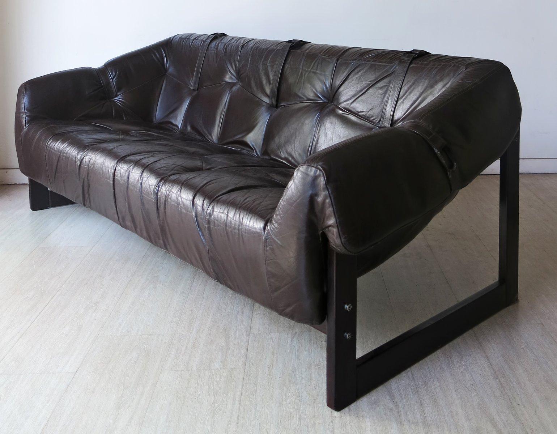 vintage ledersofa von percival lafer 1960er bei pamono kaufen. Black Bedroom Furniture Sets. Home Design Ideas