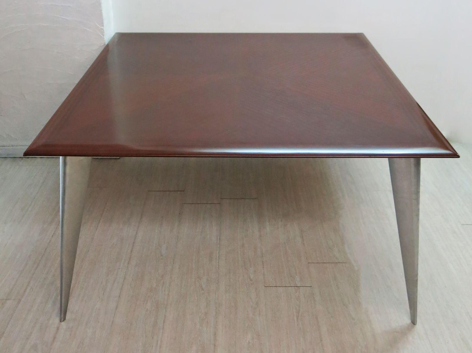 esszimmertisch aus mahagoni von philippe starck f r aleph. Black Bedroom Furniture Sets. Home Design Ideas