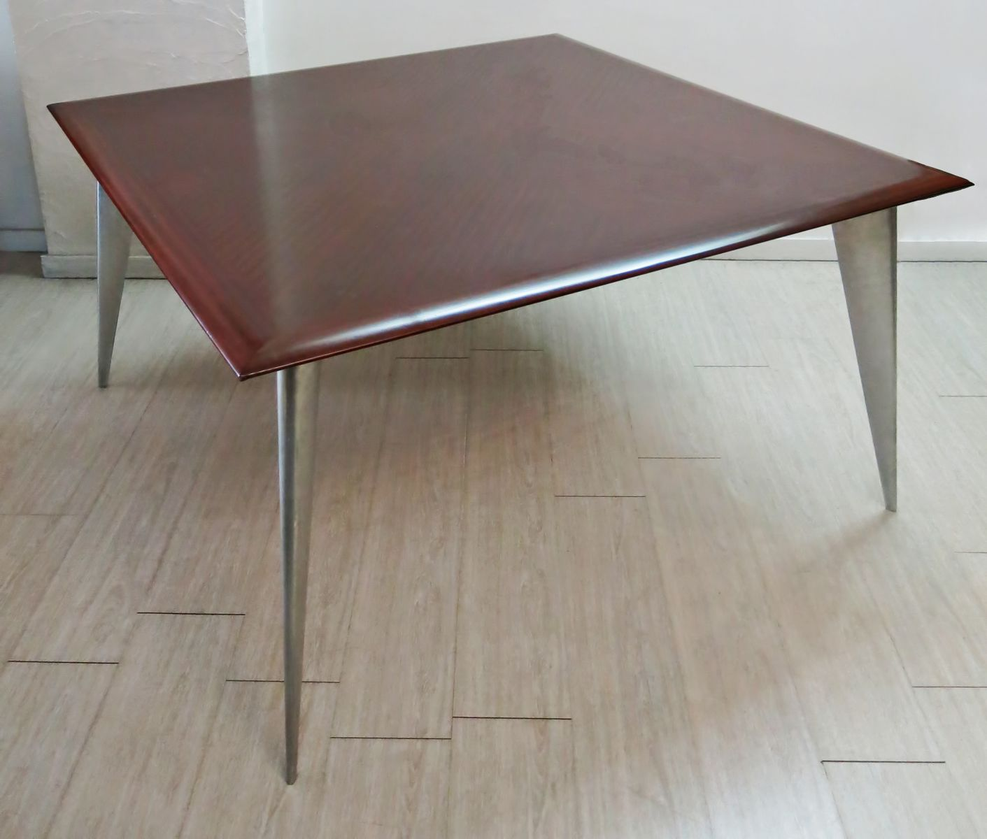 Mahogany dining table by philippe starck for aleph 1987 for Philippe starck dining tables