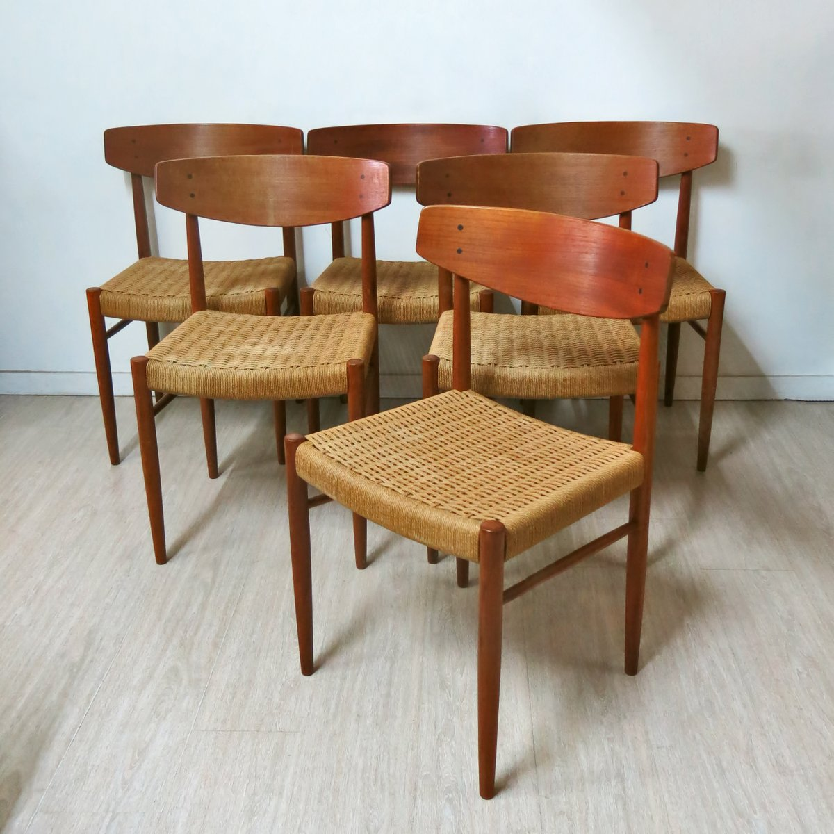 Vintage Danish Dining Chairs, 1960s, Set of 6 for sale at ...