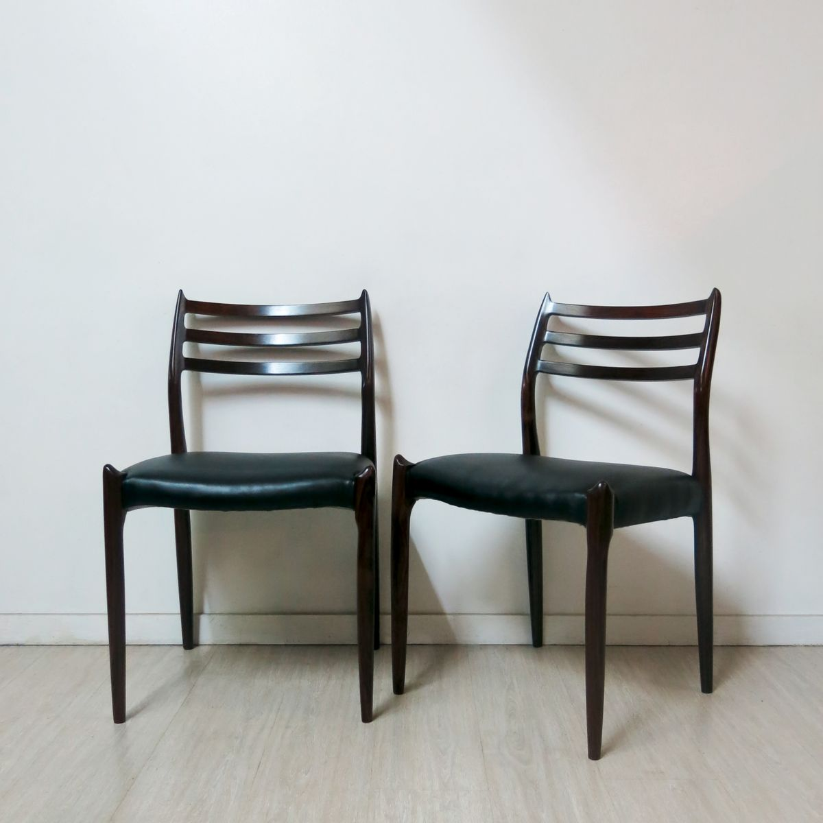 Dining chairs by niels o m ller 1960 set of 6 for sale for Set of 6 dining chairs