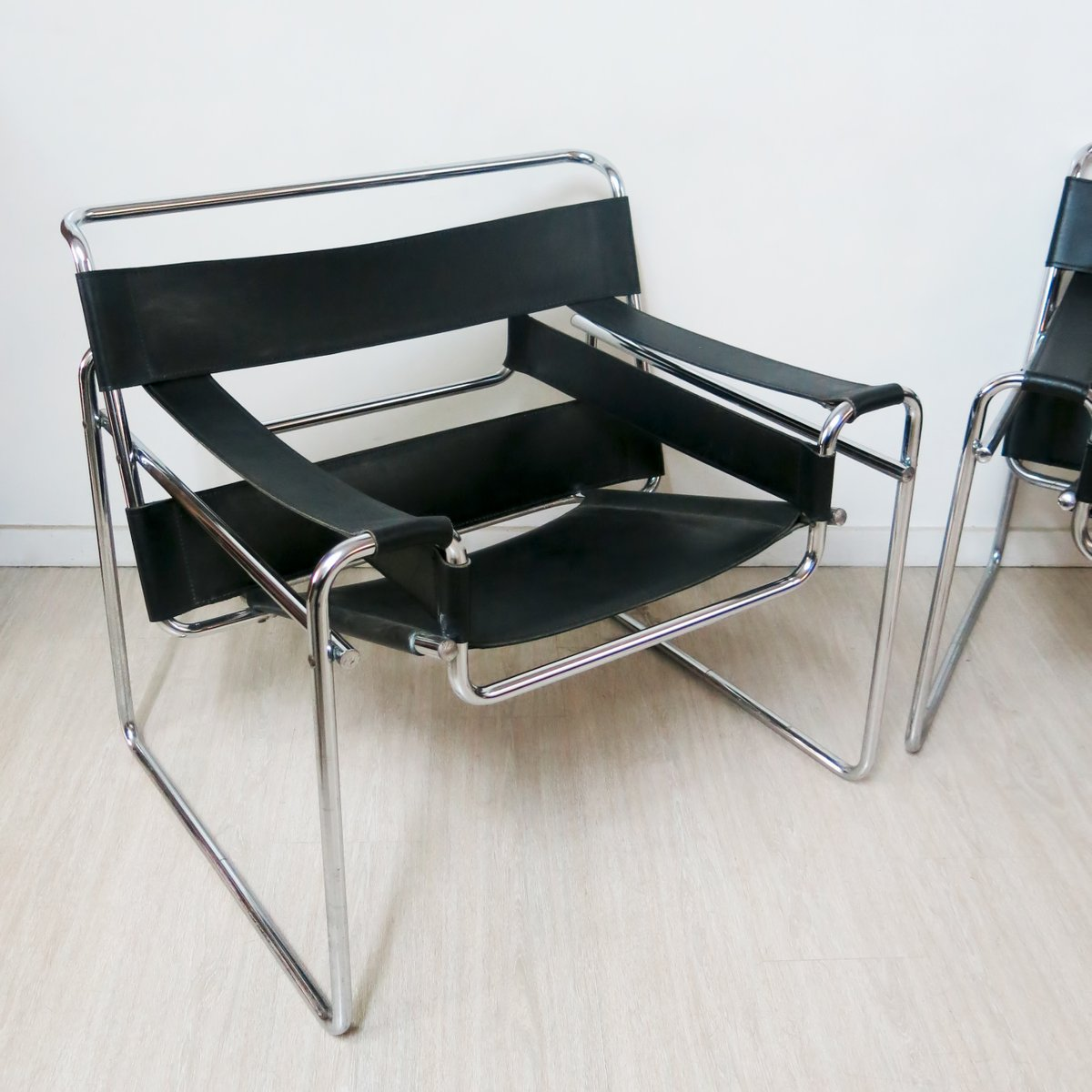 wassily chair by marcel breuer 1980s for sale at pamono. Black Bedroom Furniture Sets. Home Design Ideas