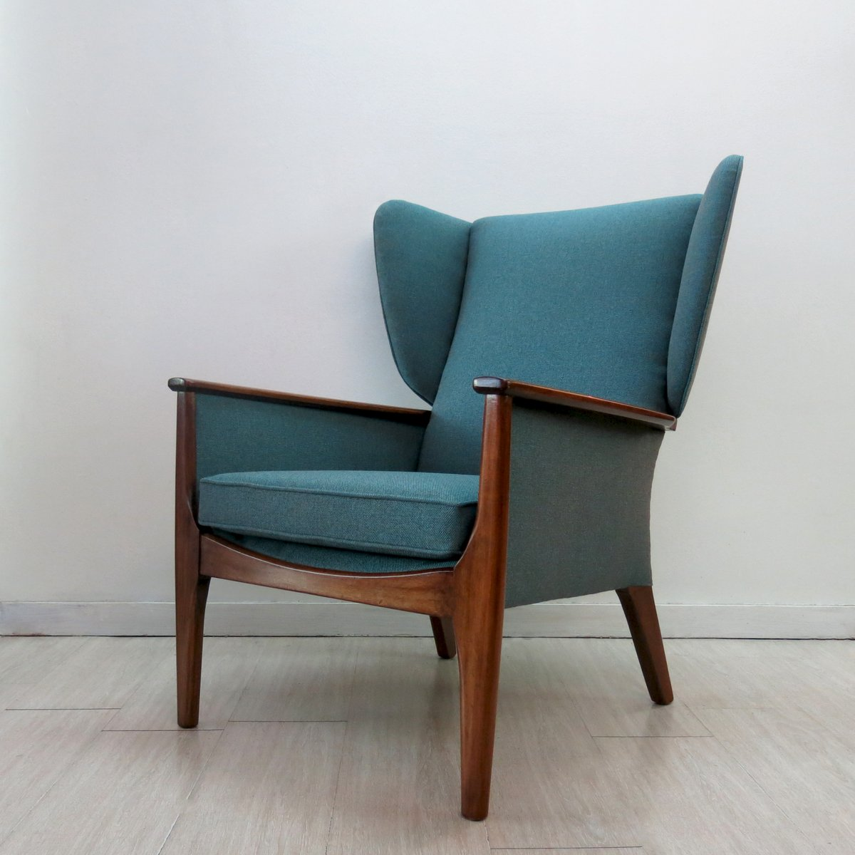 Teal wingback chair - Wingback Chair From Parker Knoll 1960s