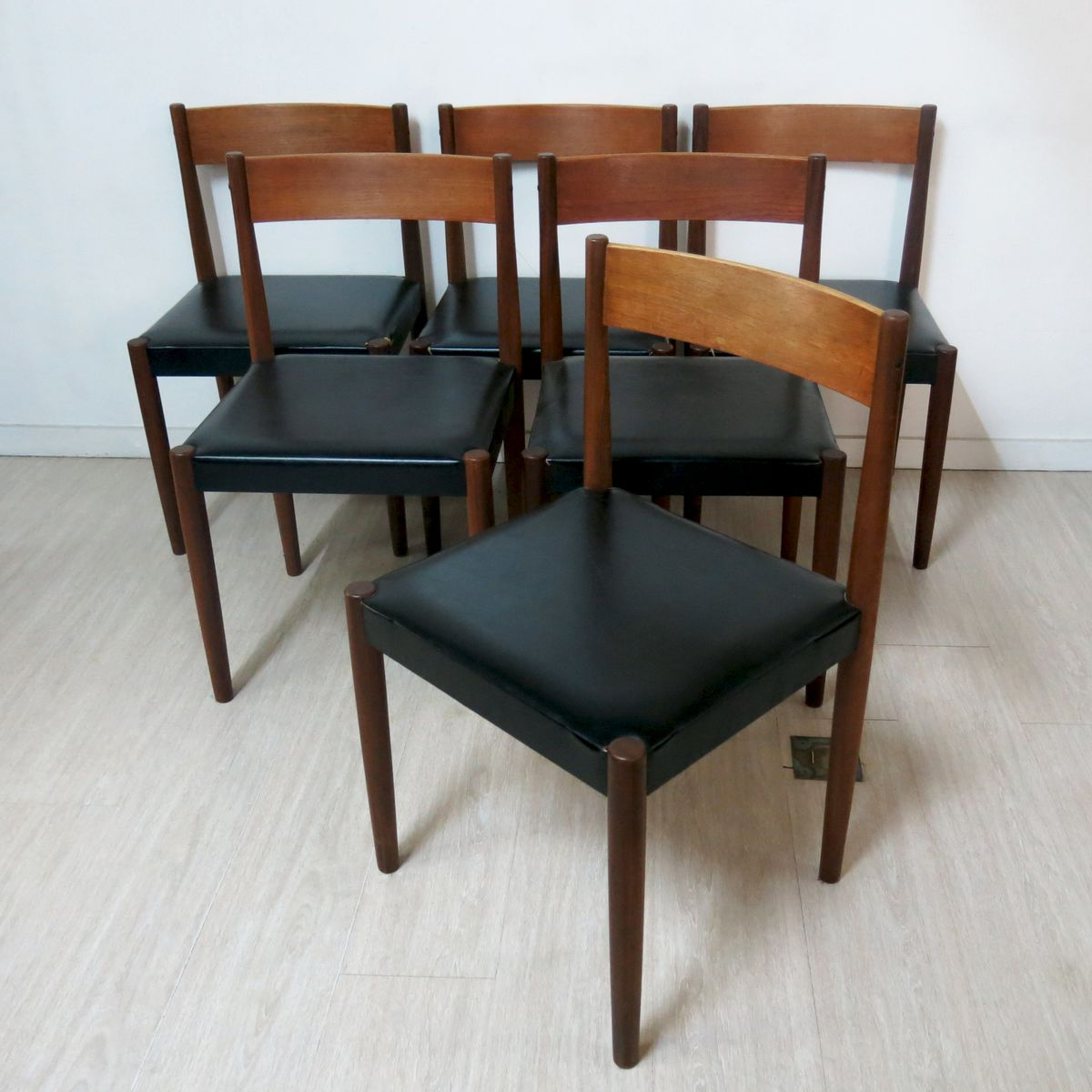 Teak dining chairs by poul volther s set of for