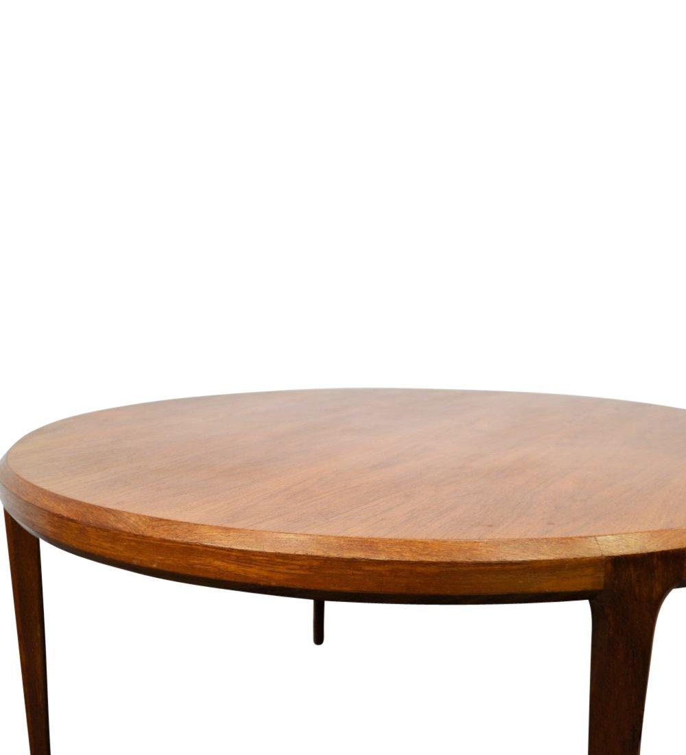 Round Teak Coffee Table: Round Teak Coffee Table By Johannes Andersen For Silkeborg