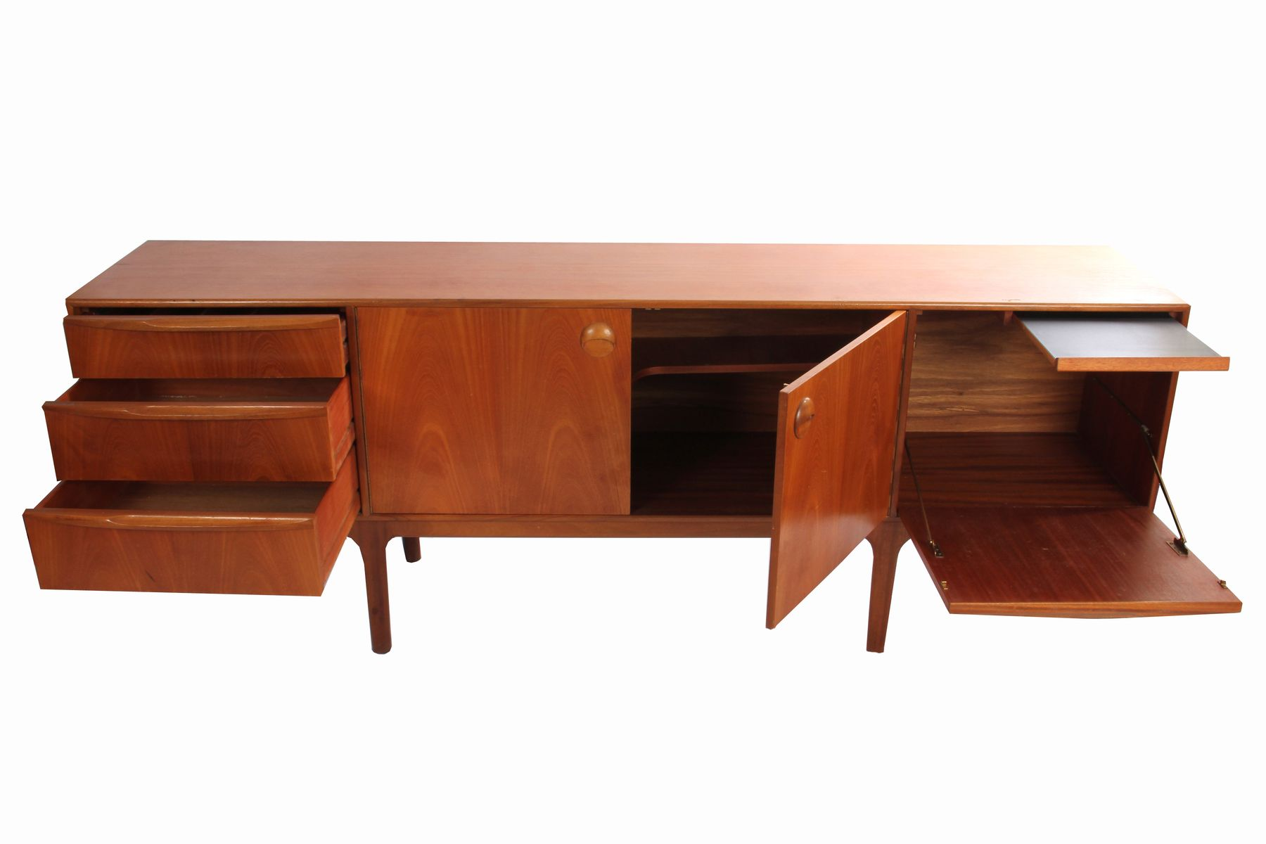Mid century teak sideboard from mcintosh 1950s for sale for 1950 s credenza
