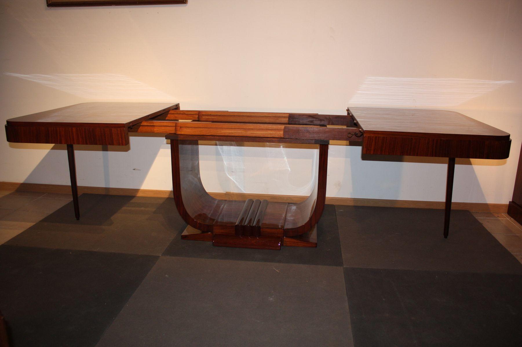 art d co palisander esstisch 1930er bei pamono kaufen. Black Bedroom Furniture Sets. Home Design Ideas