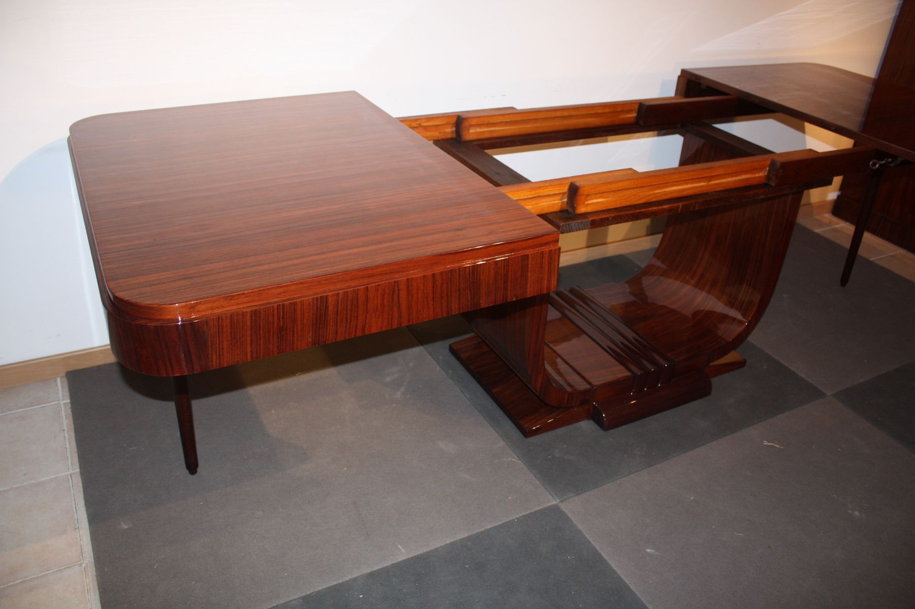 art dco rosewood dining table 1930s art deco rosewood dining