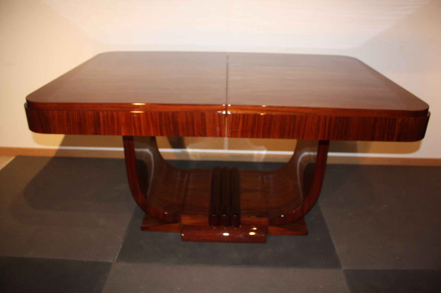art d co rosewood dining table 1930s for sale at pamono. Black Bedroom Furniture Sets. Home Design Ideas