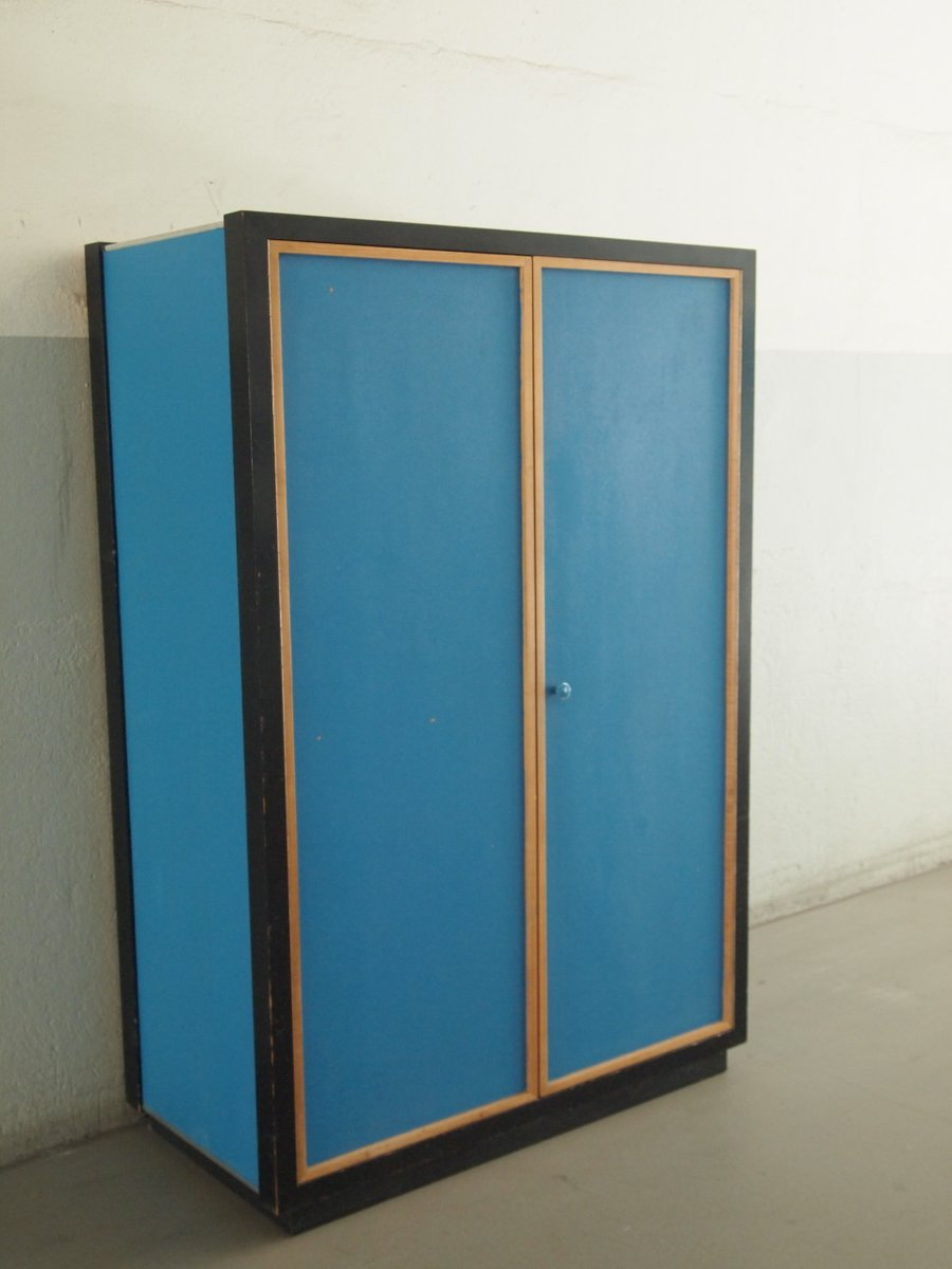 Vintage blue pavatex wardrobe by kurt thut for thut mobel for Mobel
