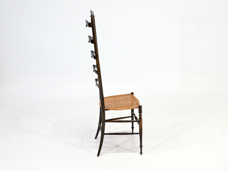 italienischer stuhl mit hoher r ckenlehne 1960er bei pamono kaufen. Black Bedroom Furniture Sets. Home Design Ideas