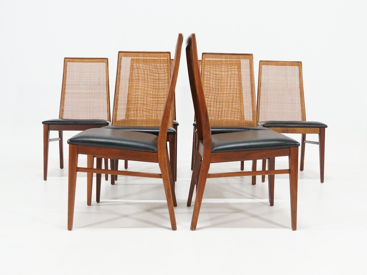 Mid Century Dining Chairs By Milo Baughman For Dillingham