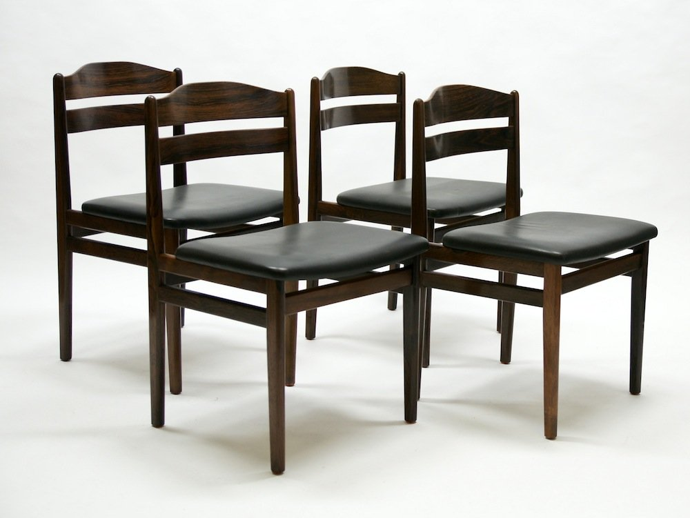Set Of 4 Dining Chairs ~ Mid century rosewood dining chairs set of for sale at