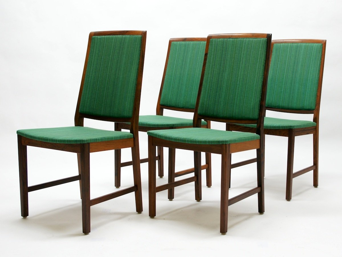 Mid Century Rosewood Dining Chairs From Skaraborg 1950s
