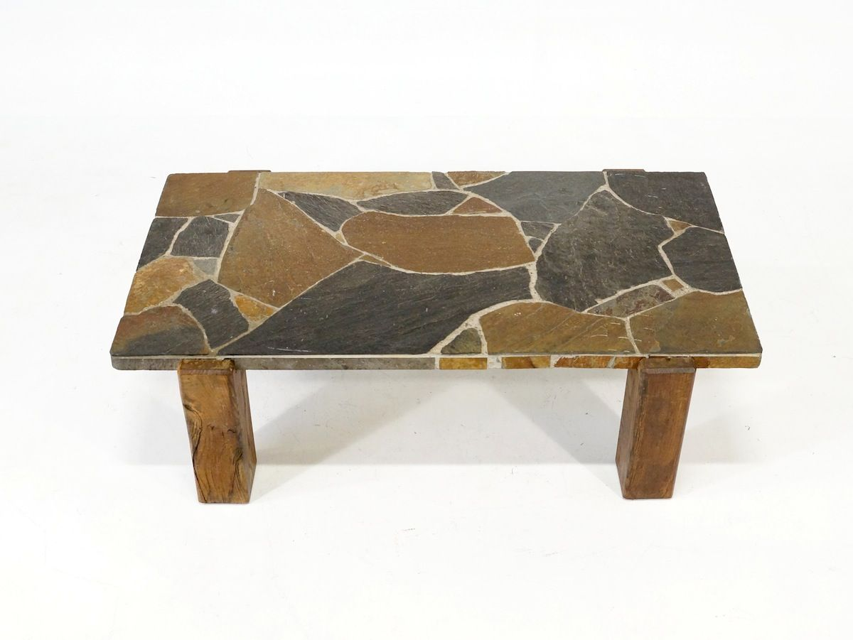 Vintage flagstone coffee table 1970s for sale at pamono geotapseo Images
