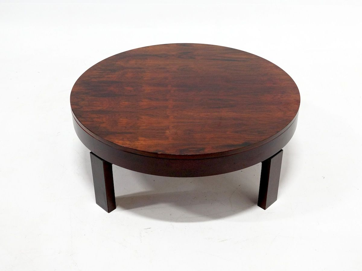 Round Rosewood Coffee Table 1950s For Sale At Pamono