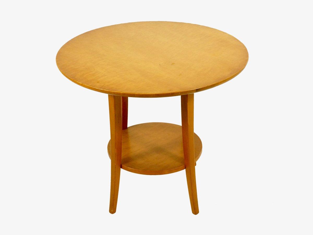 Vintage Circular Birch Wood Coffee Table 1950s For Sale At Pamono