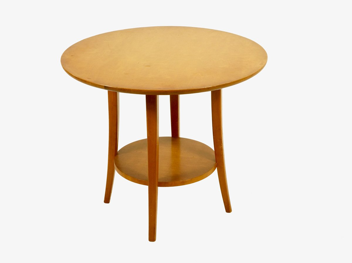 Vintage circular birch wood coffee table 1950s for sale at pamono vintage circular birch wood coffee table 1950s geotapseo Choice Image