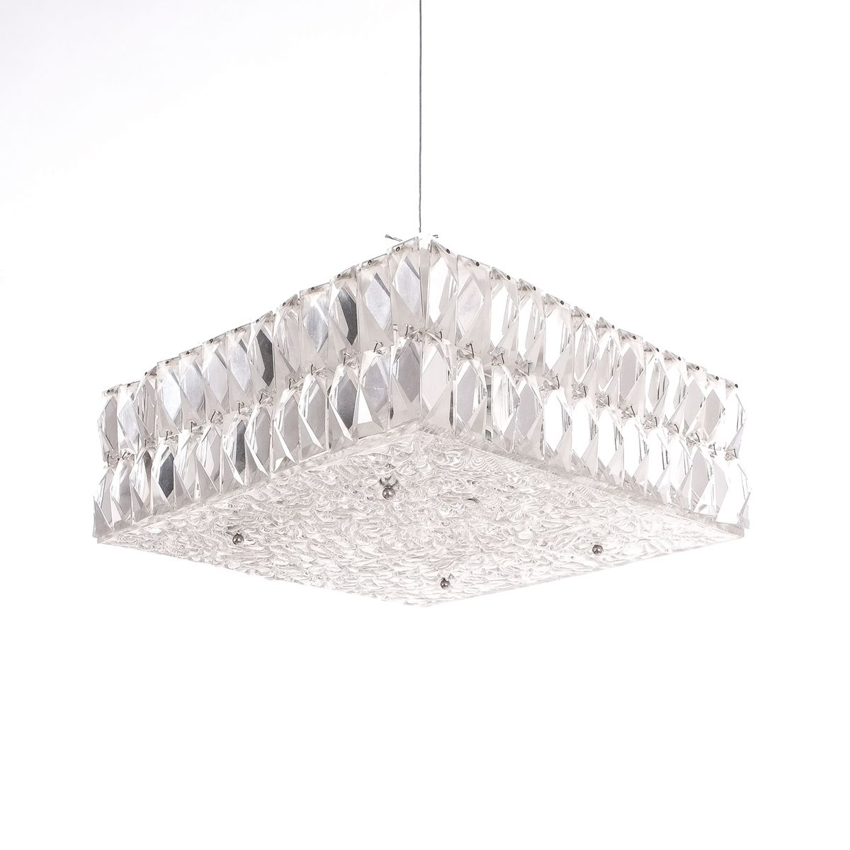 Mid century textured glass square flush mount ceiling lamp by jt mid century textured glass square flush mount ceiling lamp by jt kalmar aloadofball Images