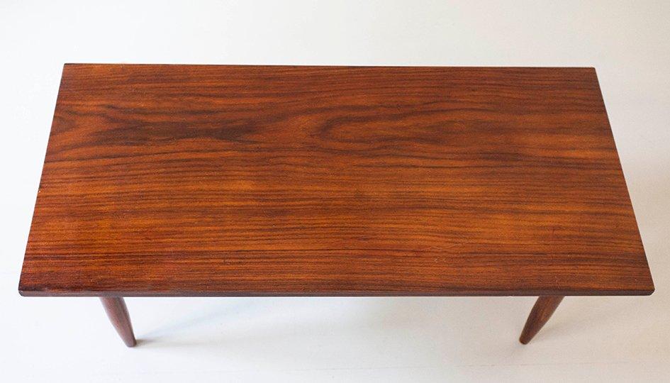 table basse mid century en palissandre en vente sur pamono. Black Bedroom Furniture Sets. Home Design Ideas