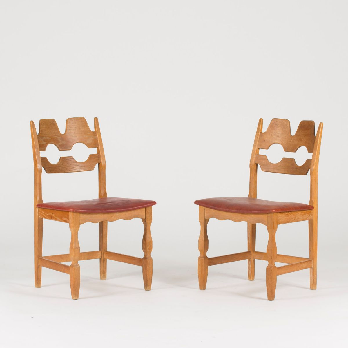 Oak dining chairs by henning kj rnulf 1960s set of 6 for for Set of 6 dining chairs