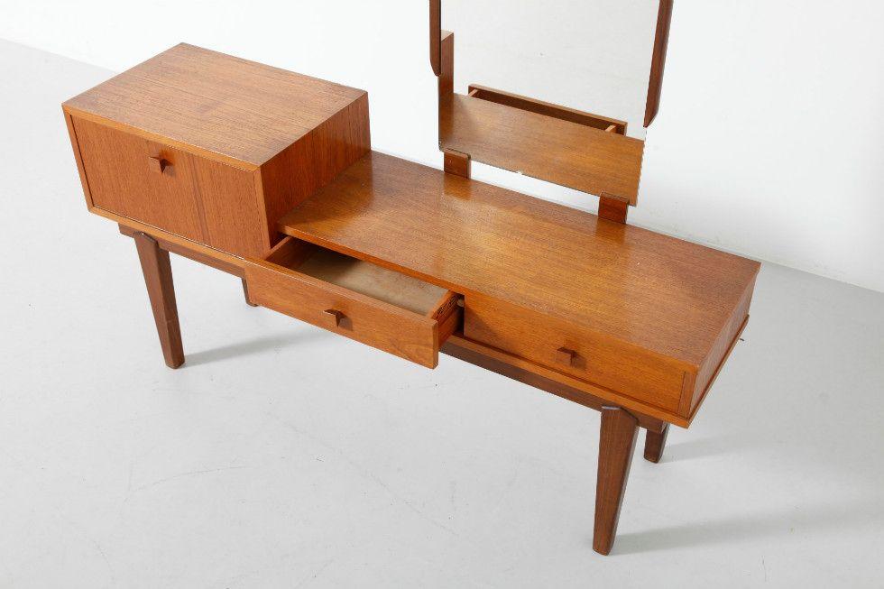 Vintage Teak Make Up Table For Sale At Pamono
