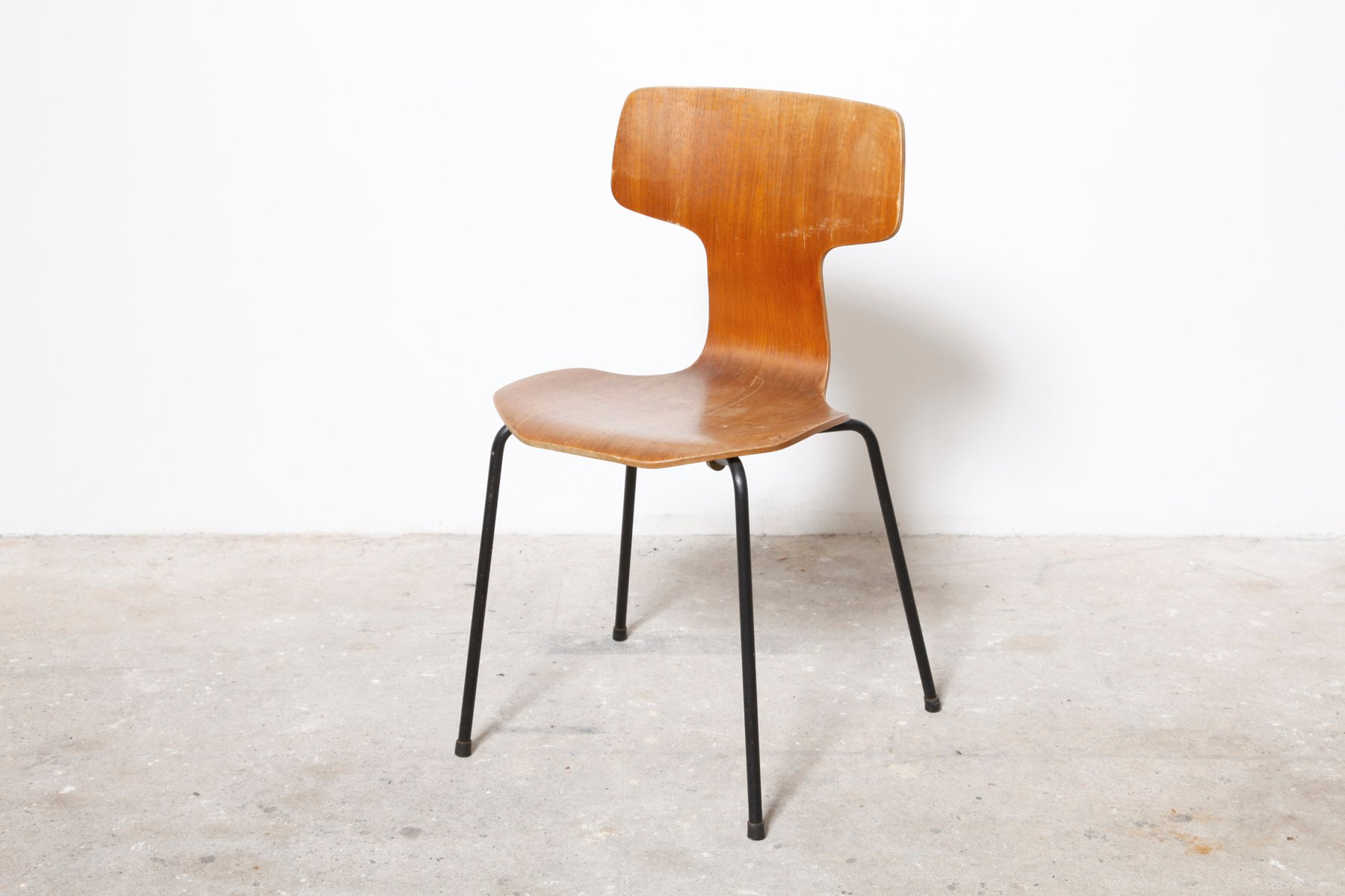3103 chair by arne jacobsen for fritz hansen 1960s for. Black Bedroom Furniture Sets. Home Design Ideas