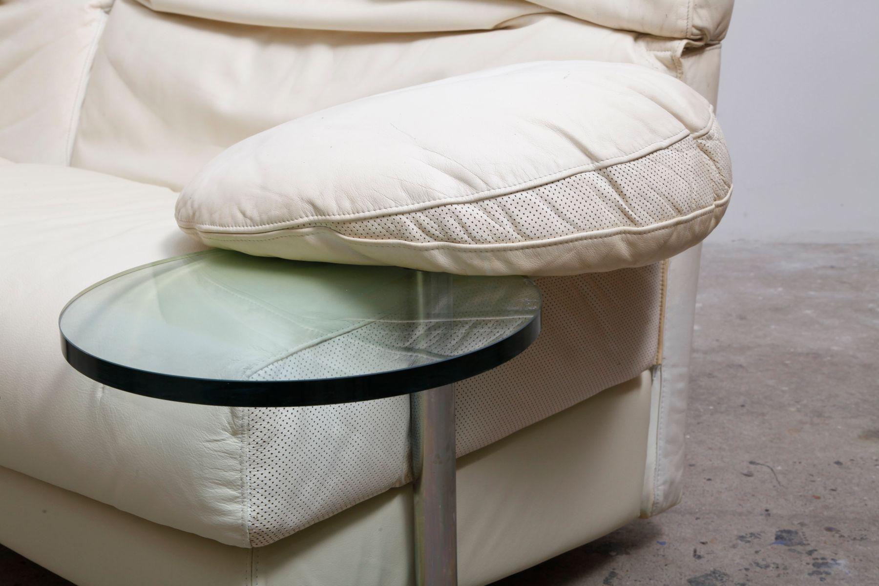 wei es arca ledersofa von paolo piva f r b b italia 1984. Black Bedroom Furniture Sets. Home Design Ideas
