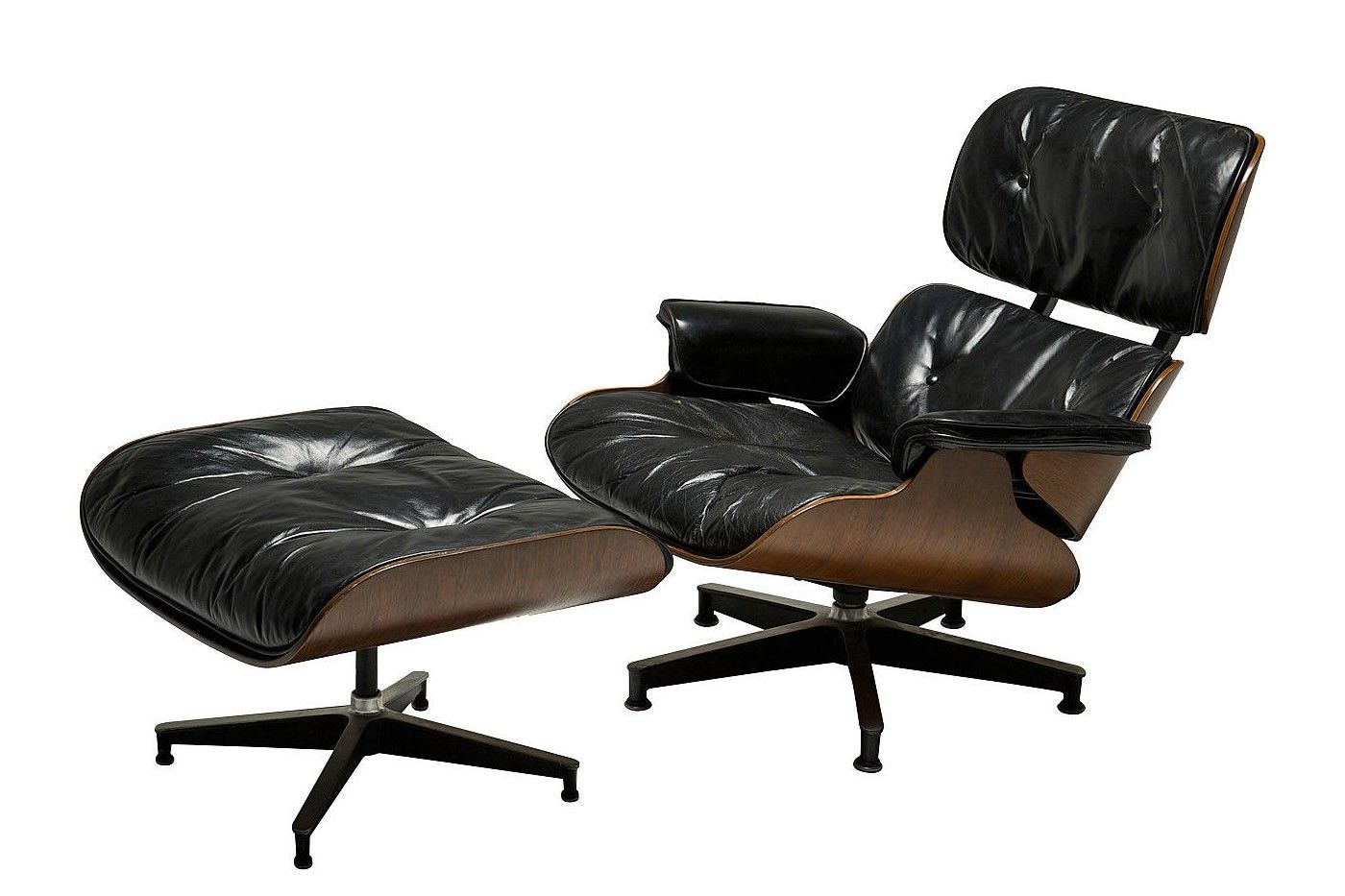 fauteuil et ottomane mod le 670 671 par charles et ray eames pour herman miller en vente sur pamono. Black Bedroom Furniture Sets. Home Design Ideas