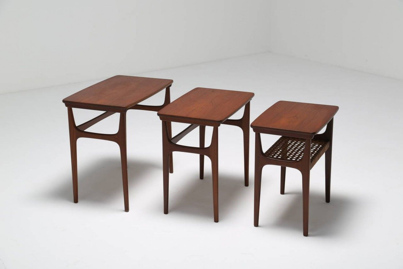 Amazing photo of Danish Teak Nesting Tables from Heltborg Mobler Set of 3 for sale at  with #3E261E color and 1400x933 pixels