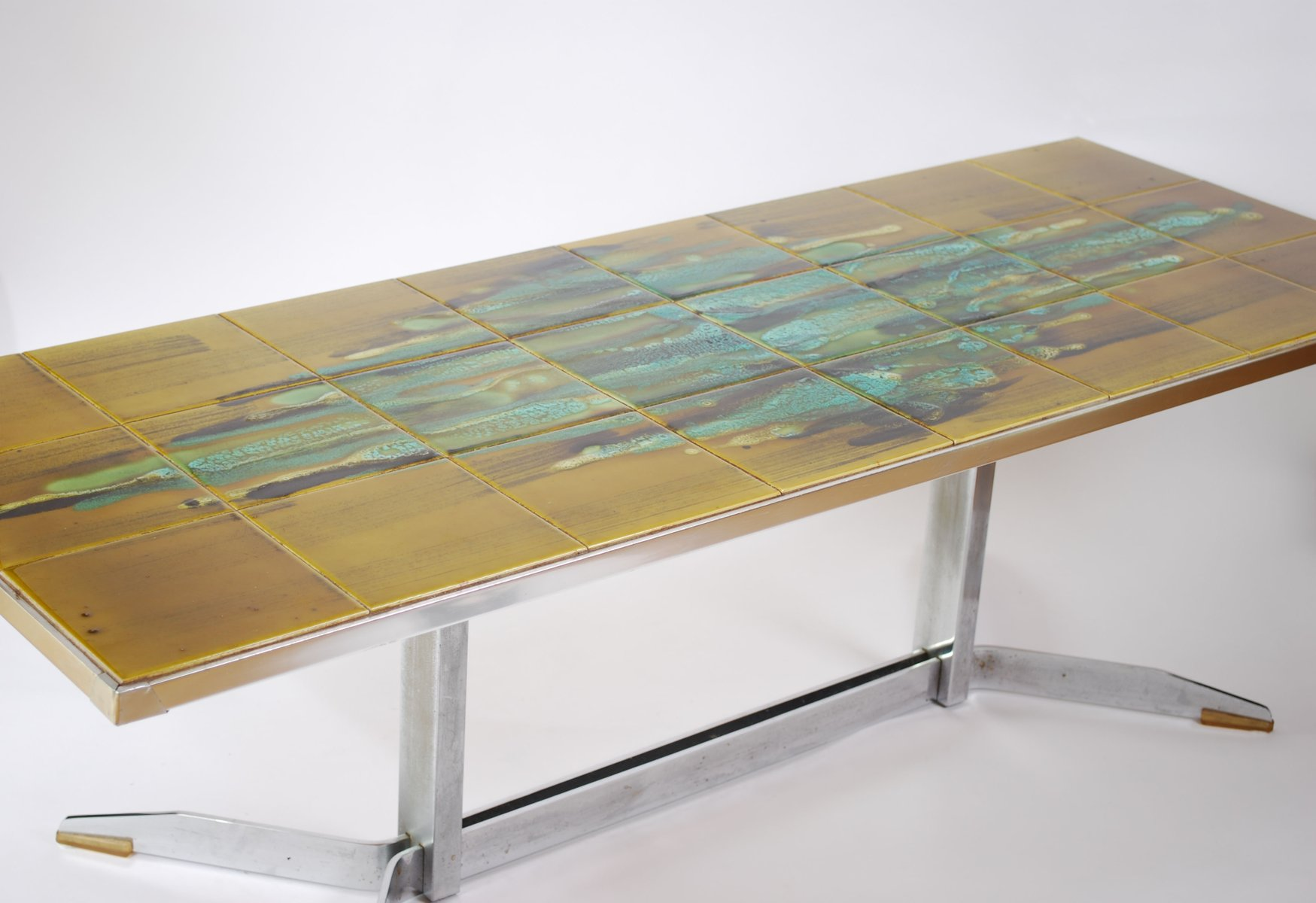 Mid Century Tiled Table by J Belarti 1960s for sale at Pamono