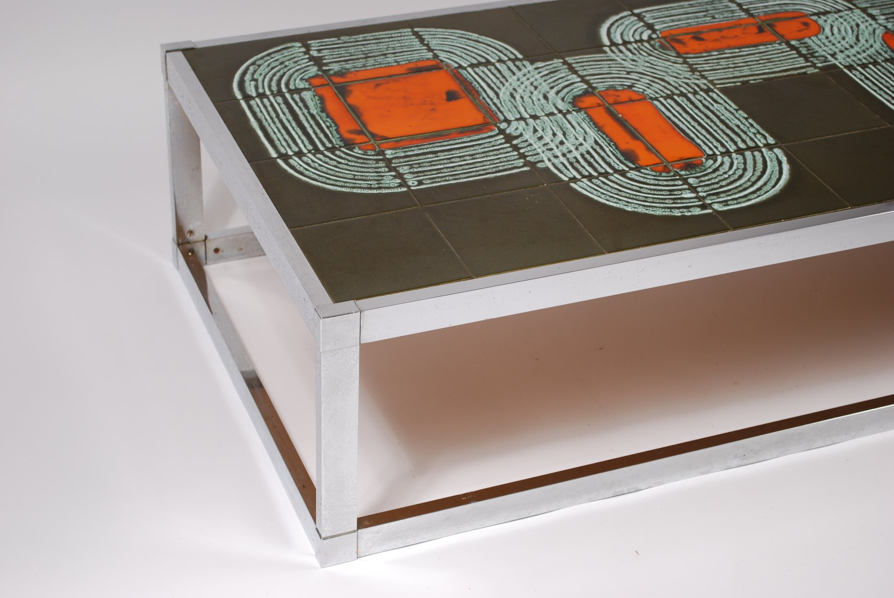 Vintage tile coffee table 1960 for sale at pamono vintage tile coffee table 1960 geotapseo Choice Image