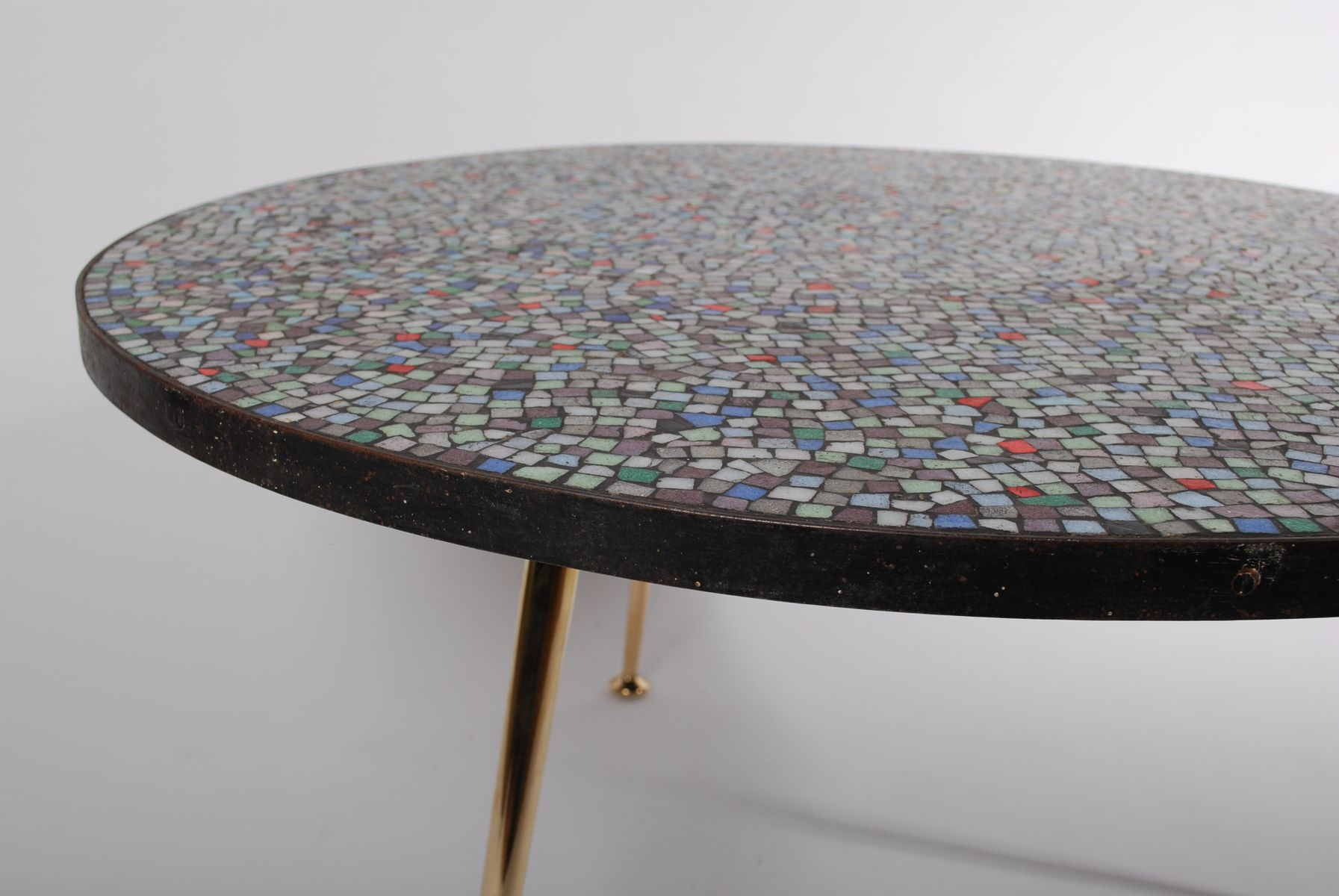 Mid century round mosaic coffee table for sale at pamono for Mosaic coffee table designs