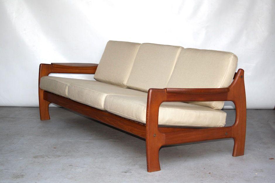 d nisches teak sofa 1960er bei pamono kaufen. Black Bedroom Furniture Sets. Home Design Ideas