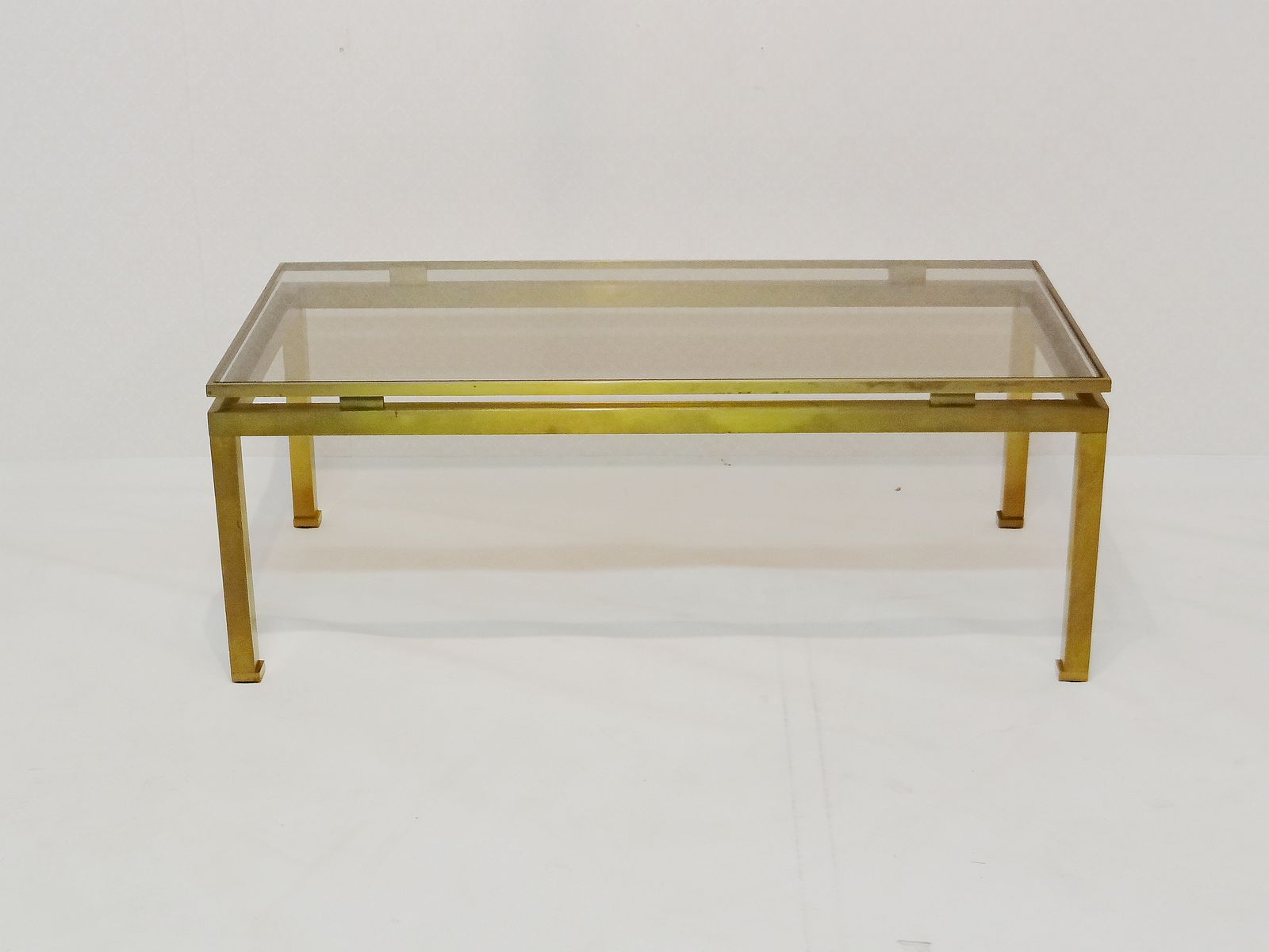 Brass Coffee Table By Guy Lefevere For Maison Jansen 1970s For Sale At Pamono