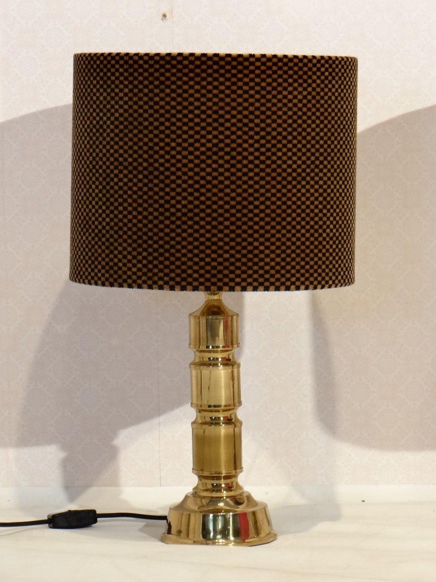 vintage brass table lamps by hulsta set of 2 for sale at. Black Bedroom Furniture Sets. Home Design Ideas